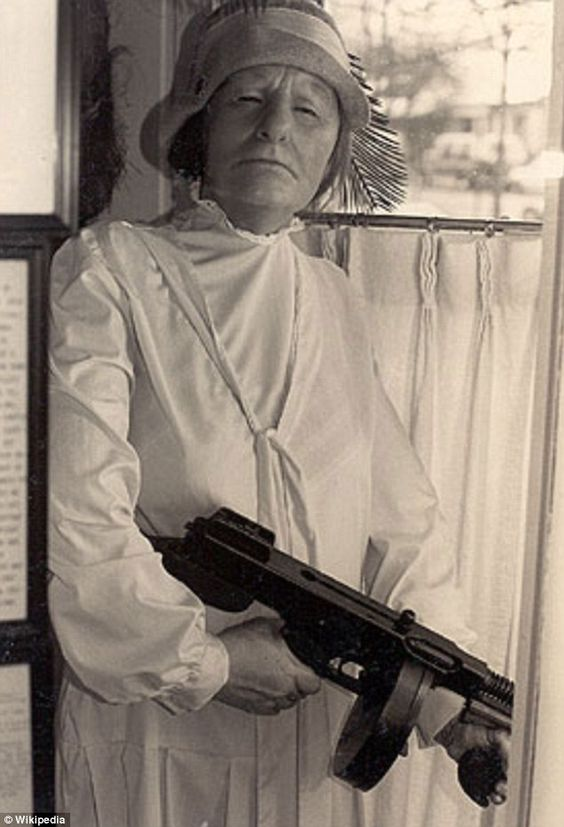 Ma Barker and her Thompson gun